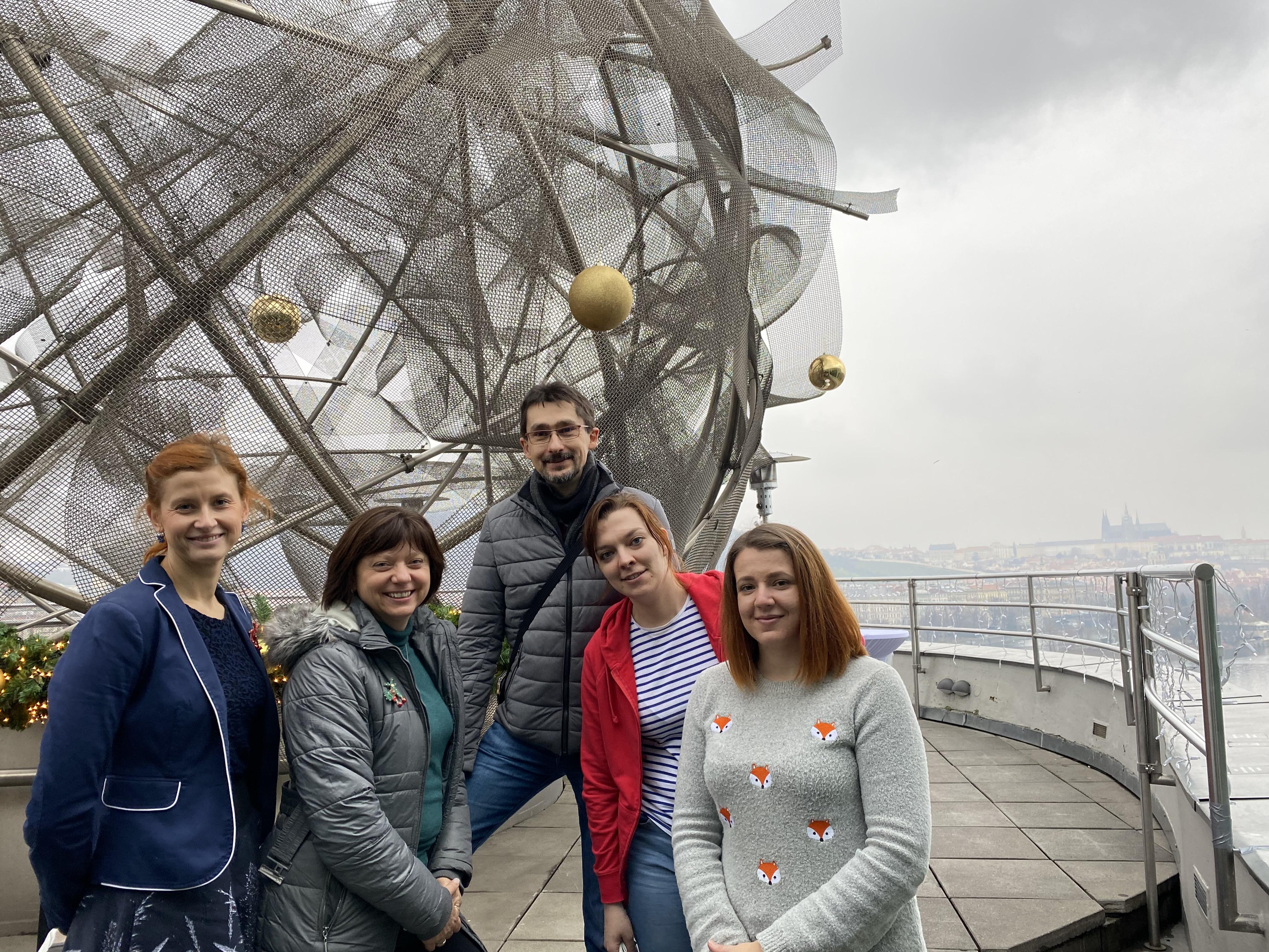 S novináři, před Vánoci – netradičně nad Prahou!